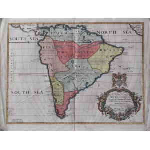 A NEW MAP OF SOUTH AMERICA, SHOWING IT'S GENERAL DIVISIONS ....