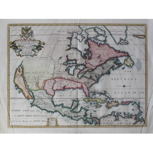 A New Map of North America Shewing its Principal Divisions, Chief Cities, Townes, Rivers, Mountains & C.