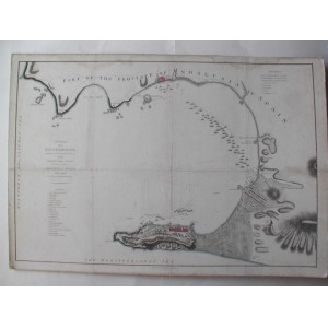 A CHART OF THE BAY OF GIBRALTAR including a small plan of that Fortress ....