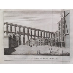 AQUEDUCT OF SEGOVIA SEEN FROM THE SQUARE DEL AZOGUEJO